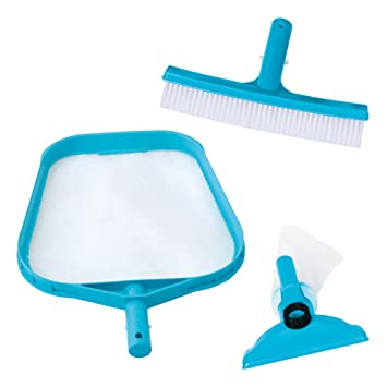Intex 29056 - Kit de limpieza básico recoge hojas, cepillo y cabezal: Amazon.es: Jardín
