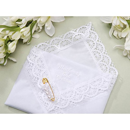 (4 Wedding Party Handkerchief's Mother of the Bride the Groom and Bride and Groom)