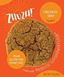 ZHUZH! Gluten-Free Vegan Gingerful Cookie (8 Large Cookies) Low Fat, Allergy Friendly, Nutrituous Treat - Great Tasting Superfood with Natural Ingredients - Made with Superpower Flour