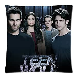 diy phone caseButuku Custom Cotton & Polyester Soft Rectangle Zippered Decorative square Throw Pillow case Cover Cushion Case 18X18 (Twin Sides) - hot America supernatural TV series Teen Wolf dark forest jungle background personalized black pillowcasediy phone case