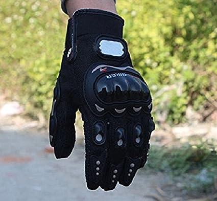 heekpek Hombres Deportes de Rock Negro Cortos Guantes Moto de la Motocicleta talla L