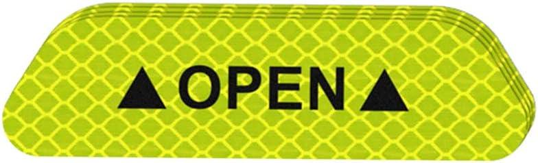 Set Targhe Adesivi Attenzione Mark Nastro Riflettente Auto Esterno Accessori Open Iscriviti Striscia Riflettente di Sicurezza Zerama 4PCS
