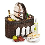 Picnic Plus Torrington 4 Person Deluxe Picnic Basket With Insulated Cooler
