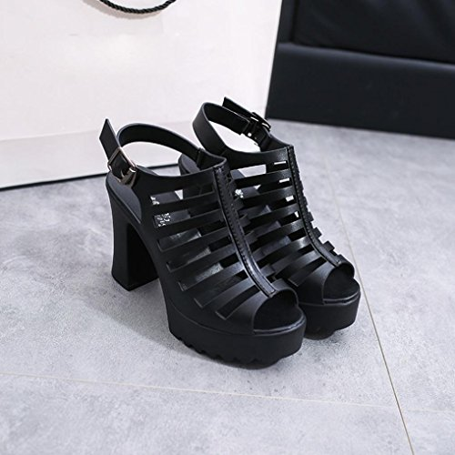 para Mujer RETUROM Zapatos Huecos Romanos Sandalias vYqd7q