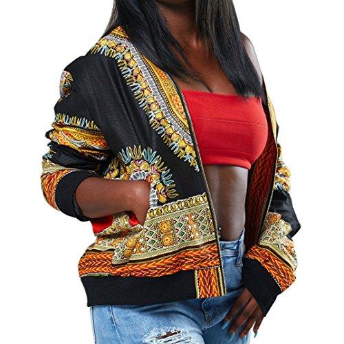 Sleeve GreatestPAK Newest Dashiki Womens Short Long Jacket 2018 Coats Sleeve Long Black Fashion Casual by pxCA0CqO