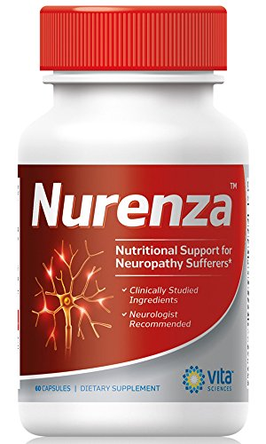 Neuropathy Supplement Nerve Pain Relief – Natural R-ALA Form 10x The Strength Than The Synthetic Alpha Lipoic Acid | Nerve Pain Relief in Feet, Hands, Legs, Toes Nerve Renew Repair Vitamins | Nurenza