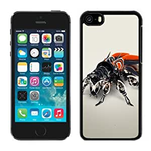 Beautiful Custom Designed Cover Case For iphone 6 4.7 inch With Metal Beetle Phone Case