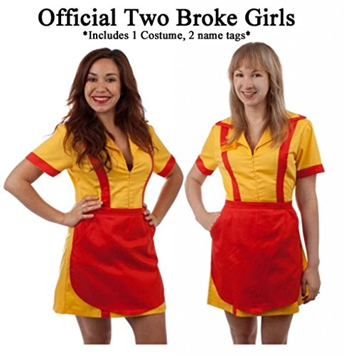 [2 Broke Girls Max and Caroline Diner Waitress Costume (Small/Medium)] (Diner Waitress Costumes)