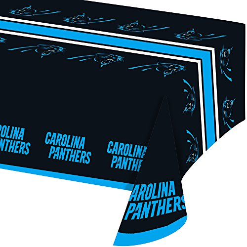(Creative Converting Officially Licensed NFL Plastic Table Cover, 54x102, Carolina)
