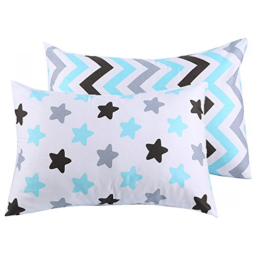 Kids Toddler Pillowcases UOMNY 2 Pack 100% Cotton Baby Pillo