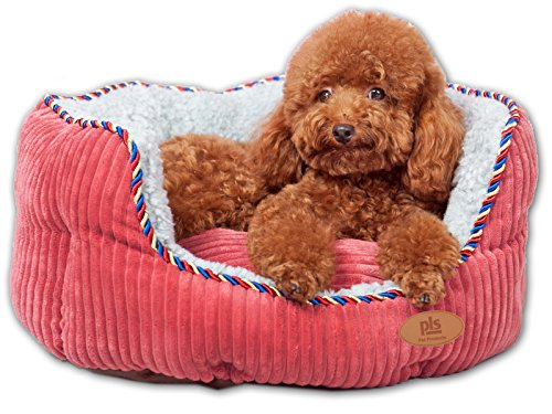 summer-clearance-sale-pls-pet-snugg-bolster-pet-bed-pink-medium-20wx24l-removable-covers-easy-clean-