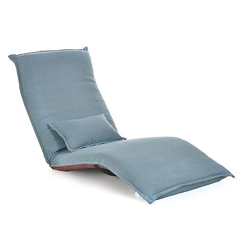 Silla plegable del suelo, sofá plegable Tatami Beanbag Silla ...