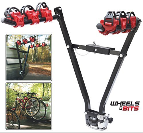 Wheels n Bits Towbar Cycle Carrier Tow Bar Mounted Bike Rack Holds Up to 3...
