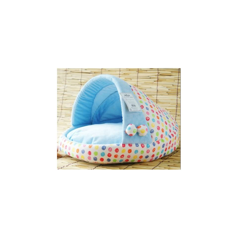 Pretty Blue Soft Pet Dog Cat Bed House Medium Good Quality From Thailand