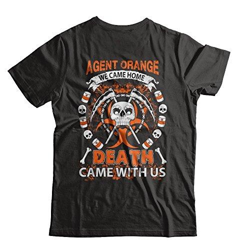 - Yametee Unisex Vietnam Veteran Agent Orange We Came Home Shirt Gildan - Short Sleeve Tee (Black, L)