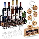 Cheap TRIVETRUNNER Wall Mounted Wine Rack | Bottle & Glass Holder | Cork Storage Store Red, White, Champagne | Come 6 Cork Wine Charms | Home & Kitchen Décor | Storage Rack | Designed Anna Stay,Home