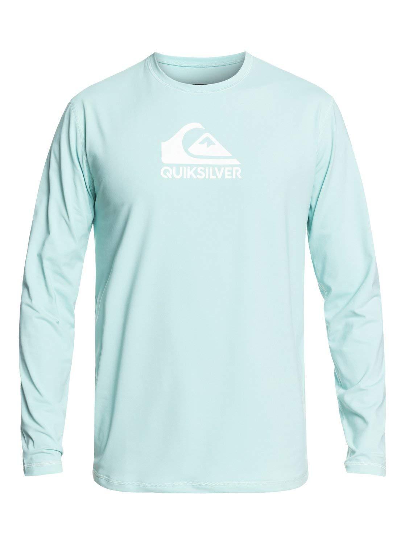Quiksilver Mens Solid Streak - Long Sleeve Upf 50 Surf T-Shirt For Men Long Sleeve Upf 50 Surf Tee Blue Xs by Quiksilver