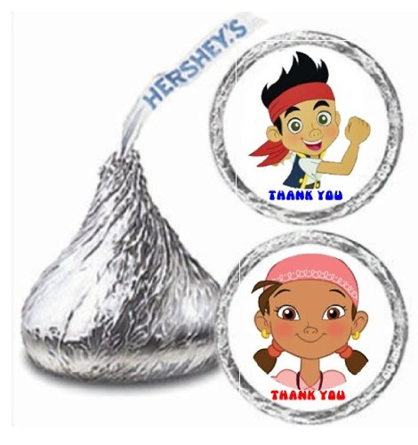 Jake And The Neverland Pirates Party Games (216 Jake & The Neverland Pirates Hershey Kiss Stickers Labels Party)