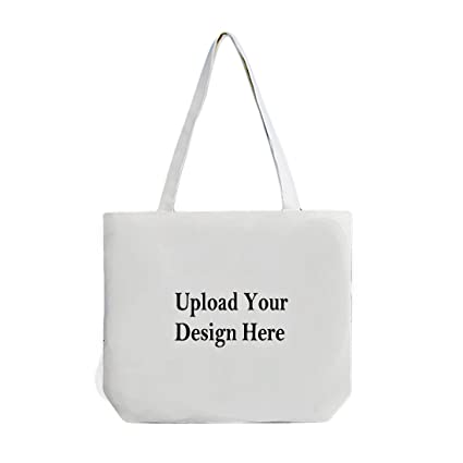 31622e8322 Image Unavailable. Image not available for. Color: Custom Tote Bag,Add your  Picture Logo Text Print,Reusable Canvas ...