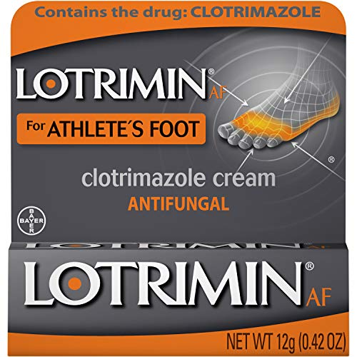 Lotrimin AF Cream for Athlete's Foot, Clotrimazole 1% Antifungal Treatment, Clinically Proven Effective Antifungal Treatment of Most AF, Jock Itch and Ringworm, Cream, .42 Ounce (12 Grams)