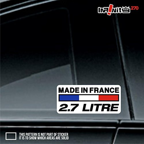 3x engine size code 2.8L litre made in france euro sticker decal valve engine fresh oem europe honk ride speed power turbo tuned oem low drift speed fit for peugeot citroen renault