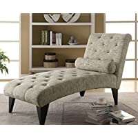 Modern Home Office Chaise Lounger - Made of Wood - Cushion Are Filled with Foam-vintage French Fabric Lounge with Pillow