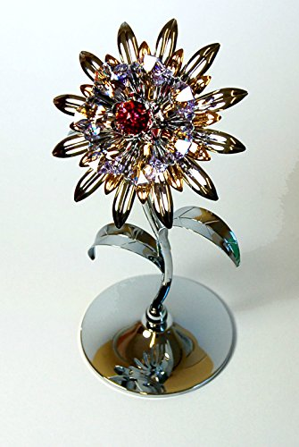 Crystocraft Giant Sunflower with Swarovski Crystals