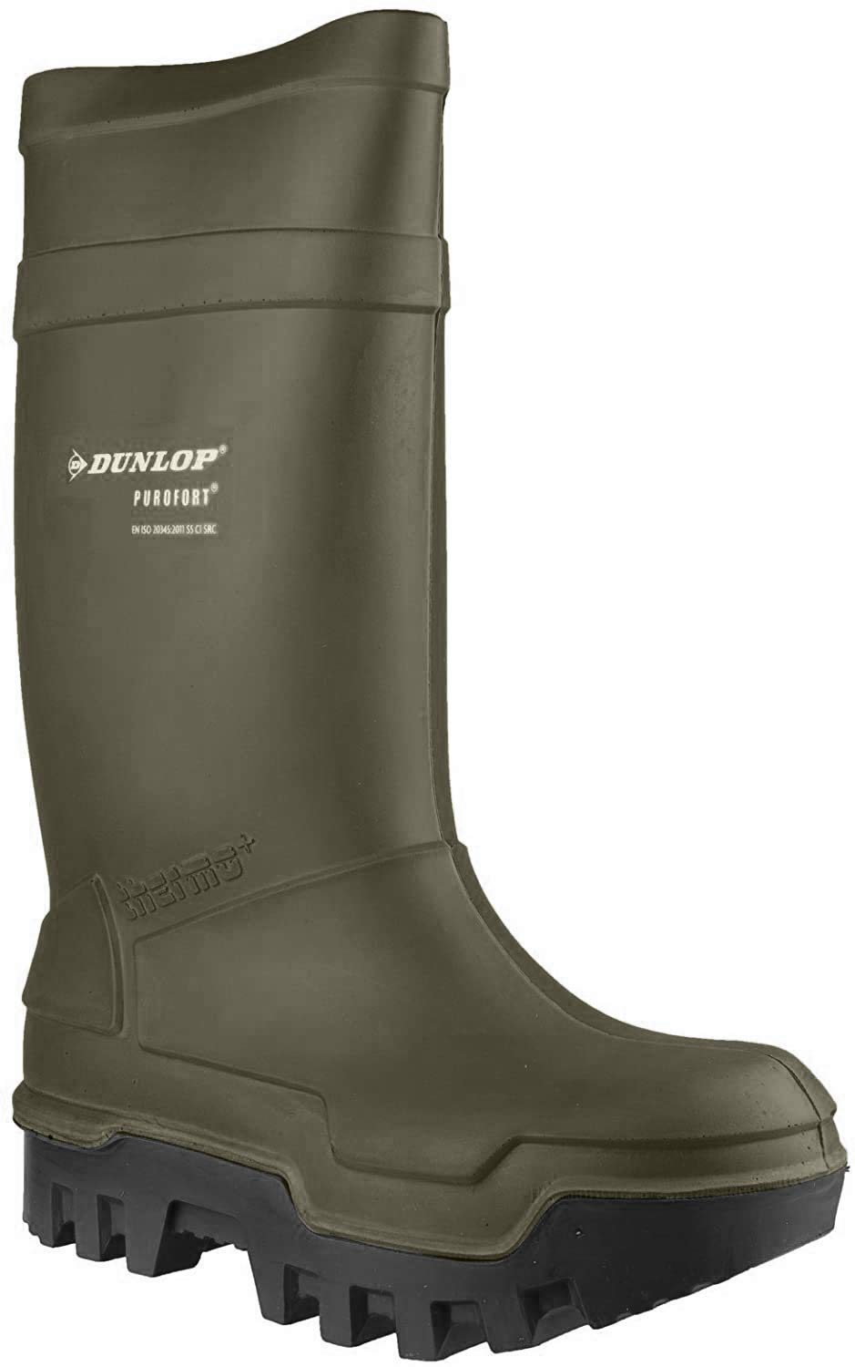 Dunlop PUROFORT THERMO+C662933 Mens S5 CI SRC Safety Wellington Boots Green