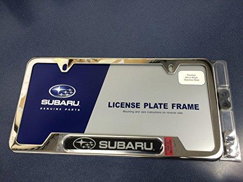 SUBARU OEM Genuine Stainless Steel License Plate Frame SOA342L127 New Logo Fits All Models