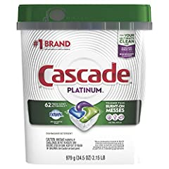Cascade Complete ActionPacs dishwasher detergent powers away even 24-hour stuck-on messes for a complete clean. That's because every ActionPac is formulated with the grease-fighting power of Dawn.