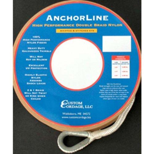 - AMRC-C-274 * 200' Custom Cordage DBL Braid Anchor Line 5/8 Inch - White