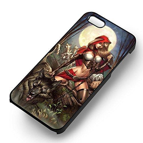Hot Little Red pour Coque Iphone 6 et Coque Iphone 6s Case (Noir Boîtier en plastique dur) U3R1WG
