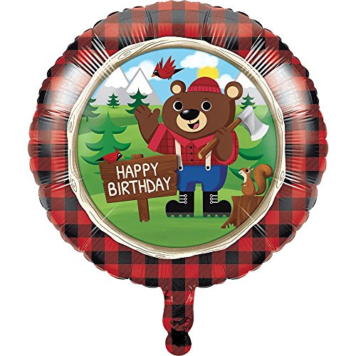 Lumberjack Happy Birthday Foil Balloon (1 ct)
