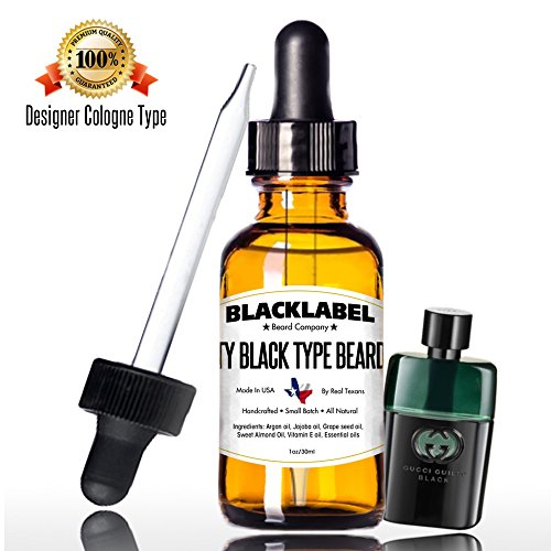 BLACKLABEL Gucci Guilty Black Cologne Type Beard Oil Softener Handcrafted 100% Pure Natural Organic Lightweight & Not Greasy Leave In Conditioner Moisturizes Skin Keeps Beard Groomed, Shiny, Fresh - Black Rum Recipes