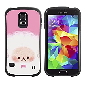 Paccase / Suave TPU GEL Caso Carcasa de Protección Funda para - Puppy Cute Pink White Sheep - Samsung Galaxy S5 SM-G900