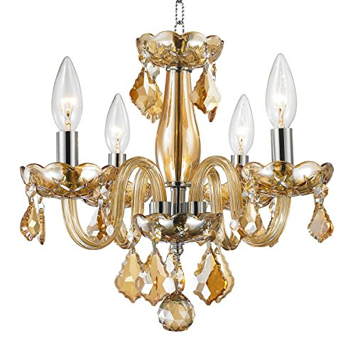 Worldwide Lighting W83100C16-AM Clarion Collection 4 Light Chandelier Mini, 16
