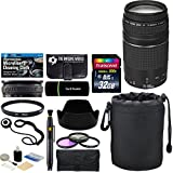 Canon EF 75-300mm f/4-5.6 III Zoom Lens + 32 GB Card + Pouch + Hood + Band + Filters + Accessories Bundle for EOS 5D 6D 7D 80D 70D 60D, Rebel T7i 77D T6s T6i T5i T4i T3i T2i SL1 SL2 T6 T5 T3 Cameras
