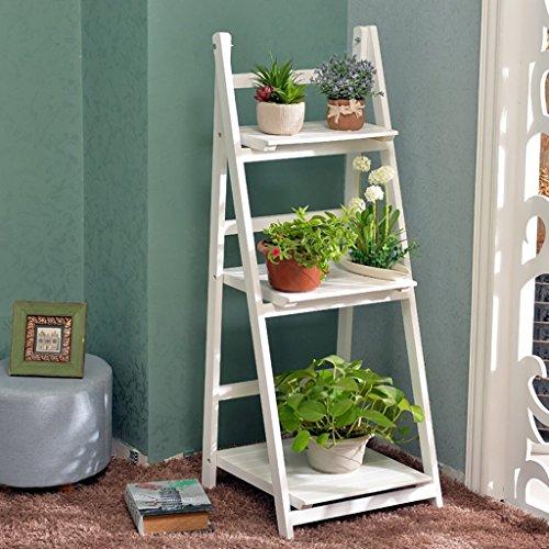 - Pergolas/Flower Racks Wooden Flower Racks/Indoor and Outdoor Plant Racks/Multi-Layer Flower Pots / 3F Ladder Stairway/Floor-Type Flower Display Stand Flower Display Stands (Color : A)