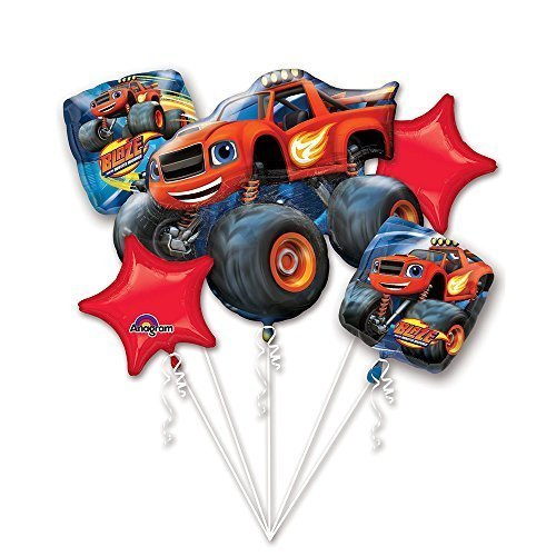 Blaze and the Monster Machine Balloon Bouquet Set Party Decoration for Kids by Mayflower Products by Mayflower Products