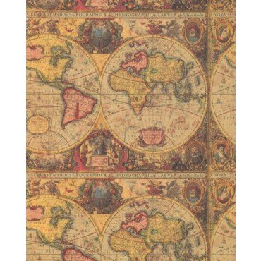 Amazon vintage world map heavy gift wrapping paper two 26 in x vintage world map heavy gift wrapping paper two 26 in x 6 ft sheets gumiabroncs Image collections