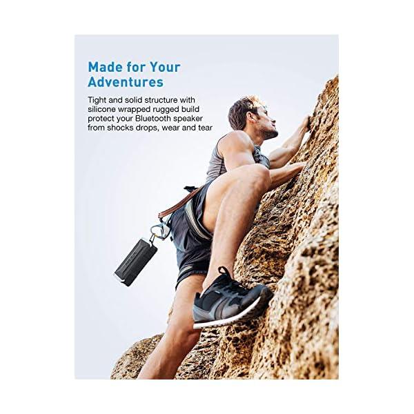 VTIN Punker Enceinte Portables Bluetooth, 30 Heure Haut-Parleur Extérieur Sans Fil avec Son Stéréo 20W Fort, IPX5 Imperméable,Crochet Détachable Haut-Parleur Portable 4