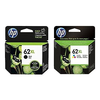 1 x Set original cartouches d'encre XL pour HP envy 7640 e all in one 1x HP 62XL Noir et 1x HP 62XL Couleur
