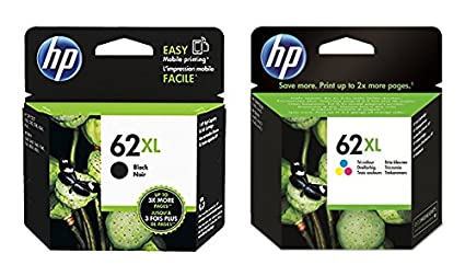 1 x Juego de XL cartucho de tinta original para HP Envy 7640 e-All-in-One HP 62 XL HP62 X l-black Color – 100 tinten-sandte Tarjetas de fotos de 10 x ...