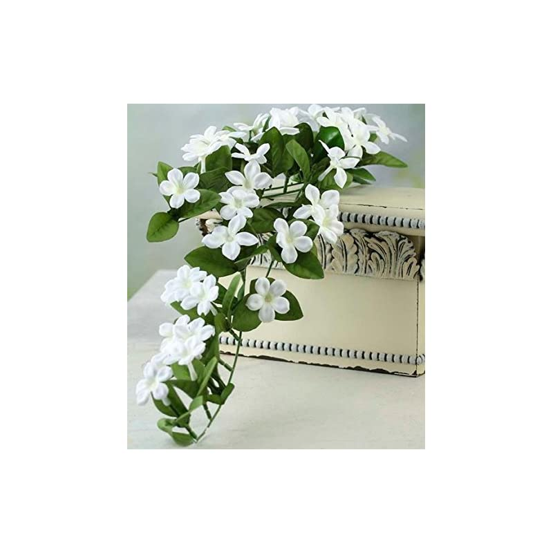 silk flower arrangements factory direct craft lovely cascading artificial stephanotis vine spray for home decor, floral arranging, and embellishing