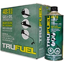 Tru-Fuel 2-Cycle 40:1 Ethanol-Free Fuel for Outdoor Power Equipment, 32oz - Case of 6