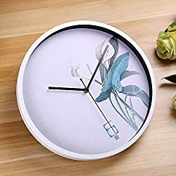 Beixi Time Creative Home Office Classic Silent Non Ticking Flower Pattern 12 Inch Round Wall Quartz Clock (Size : Hc0054w)