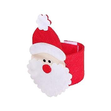 COMVIP Sostenedor de la Toalla 4pcs Servilletero de Navidad de Santa Telas sin Tejer Hotel Red Tamaño: 5 * 18.5cm Rojo: Amazon.es: Juguetes y juegos
