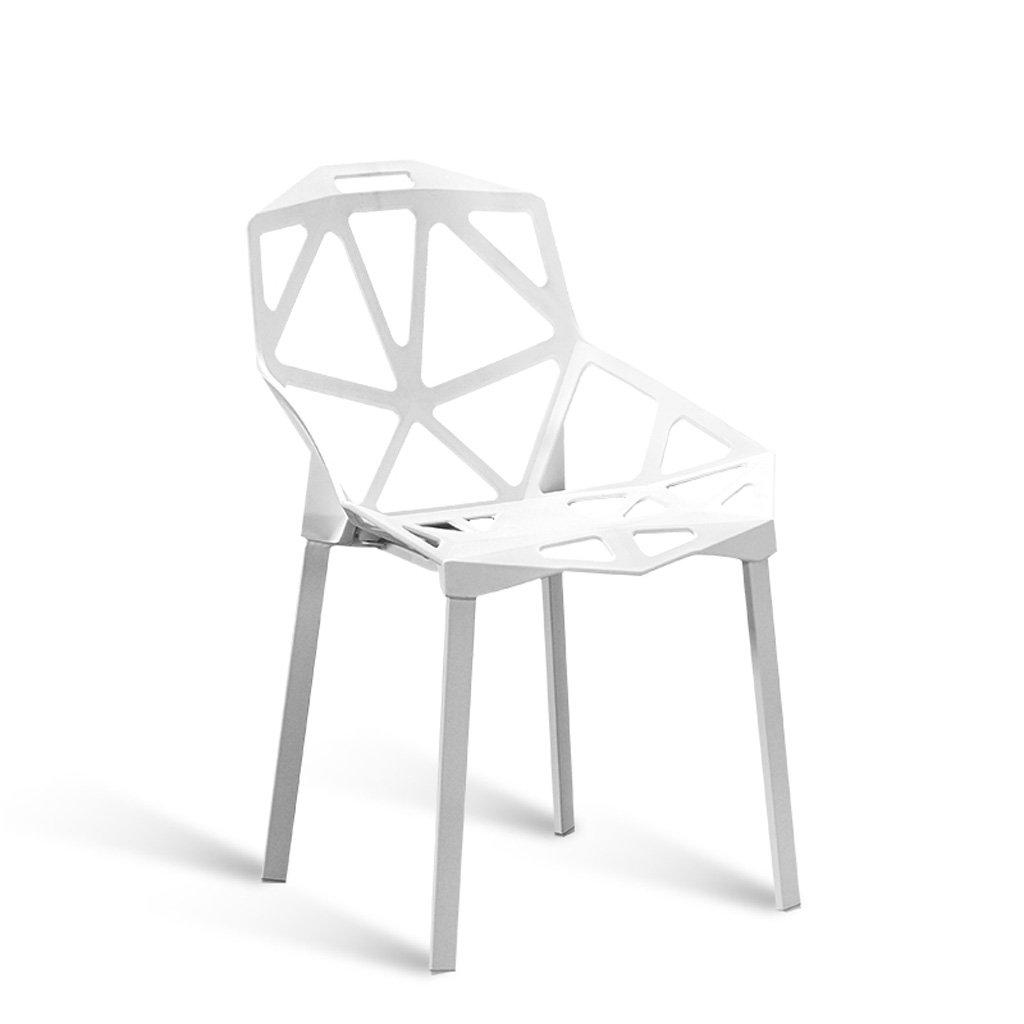 CKH Sedia di sala da pranzo moderna di plastica minimalista sedia da conferenza Sedia da studente di dormitorio di ferro creativo Cafe sedia creativa ( Color : Black ) jimu