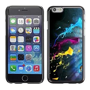 TopCaseStore / la caja del caucho duro de la cubierta de protección de la piel - Color Splash - Apple iPhone 6 Plus 5.5