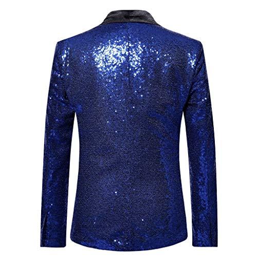 Tops Affaires Veste De Solide Soirée Outwear Luckygirls Bleu Costume Mariage Hommes Blazer Foncé Chemisier Élégant 81xwPwqUR